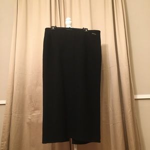 Geiger Vintage  maxi straight  Black skirt